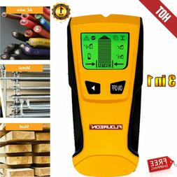 3-in-1 LCD Stud Center Finder Metal & AC Live Wire Detector