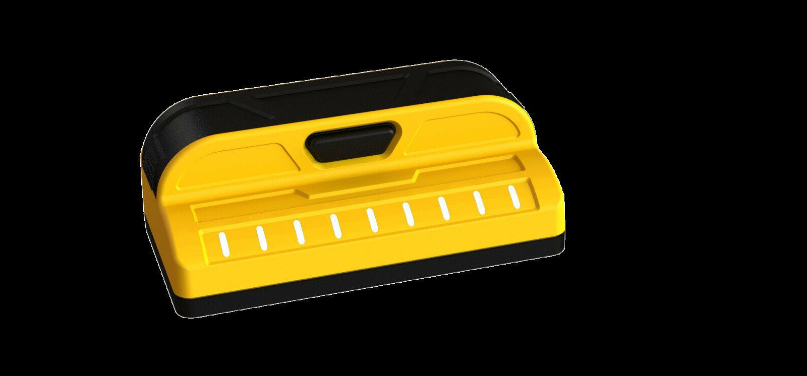 yellow professional stud finder measuring hand tools