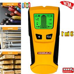 LCD Stud Finder Sensor Wall Scanner 3in1 for Wood AC Wire Me